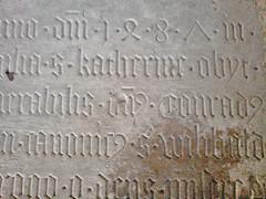 Gedenktafel 1487 (Bundscherer) Tags: textura typography number gravestone type date numeral inscription lapidary typografie gothisch zahl ziffer 1487