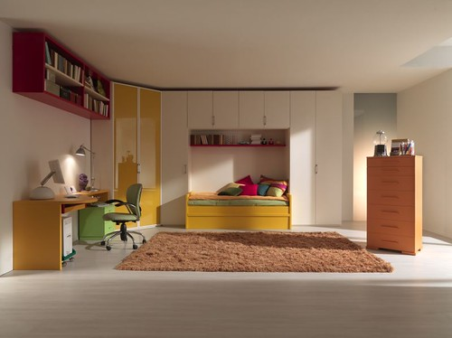 Mazzali: children and teenagers bedrooms, kids furniture, interior bedroom modern minimalist