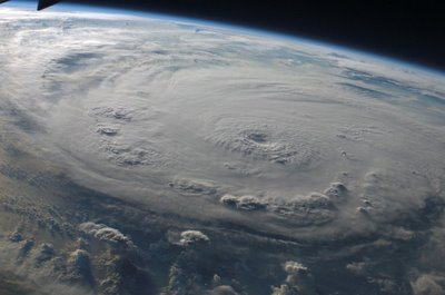 hurricane ike from space