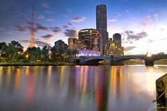 Southbank | Melbourne (Jake Richardson Photography) Tags: melbourne city southbank australia yarra river arts centre sun star burst spikes buildings bridge water reflection long exposure le nikon d610
