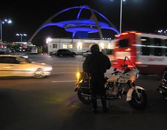 On duty at LAX (Tim Ravenscroft) Tags: airport lax losangeles policeman night