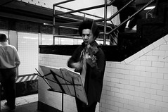 Urban Bach (Lori Foxworth) Tags: underground subway bach masstransit unionsquare performer violinist streetmusician quotlorifoxworthquot quotlorifoxworthphotographyquot quotblackwhiteandrawquot quotyourdailycheesesteakquot
