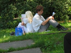 Couple Reading