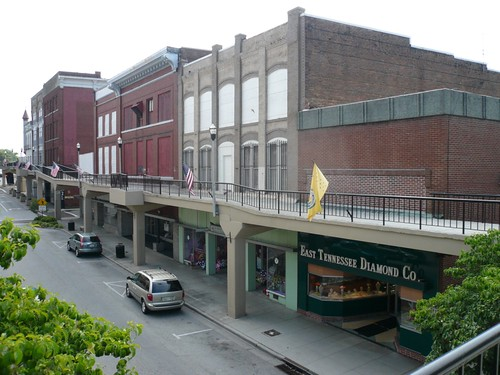 Second floor retail, Downtown Morristown, Tennessee