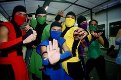 Mortal kombat group (ninja group) (robson.mori) Tags: cosplay ninja group mortal kombat