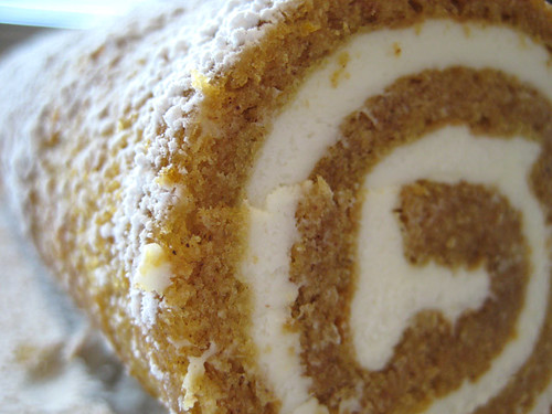 Pumpkin Roll With Toffee Cream Filling And Caramel Sauce Recipes ...