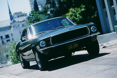 1968 Mustang Fastback GT 390 (replica) in San Francisco · 2008 Ford