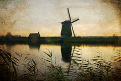 Dutch Windmill (siebe ) Tags: holland texture dutch landscape nederland thenetherlands landschap landsmeer oostzaan twiske mywinners aplusphoto hollandstock