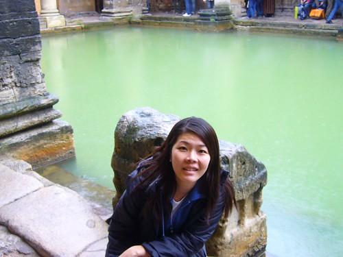 Shirley at Roman baths