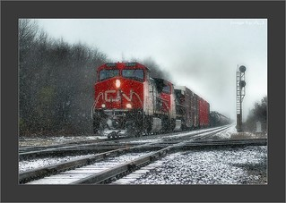 Fast Freight and Furious Flurries in Indiana