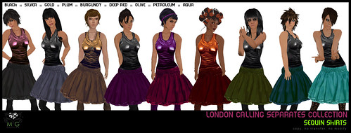 [MG fashion] London Calling Collection - sequin skirts