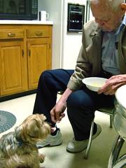 Grandpa Feeds Ralph Ice Cream
