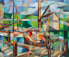 David Dike Fine Art LP_BOATS IN HARBOR_Stella Sullivan (christineandersonandassociates) Tags: david dike