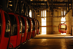 Parking (Micha Sacharewicz) Tags: travel station hall interiors interior parking hangar cable bulgaria rila cablecar hanging gondola portfolio nikkor gondolas borovets  musala   1855mmf3556gii