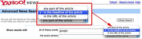 Yahoo News Headline Search