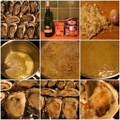 Gratines oysters: the recipe (cathou_cathare) Tags: christmas food france recipe fdsflickrtoys wine montpellier butter oyster nol parmesan huitre beurre shallot breadcrumbs aliment chapelure echalotte picpouldepinet gratin