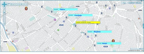 Mapa dos metrôs