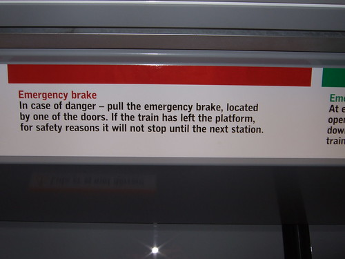 How to use emergency breaks in the Stockholm Metro