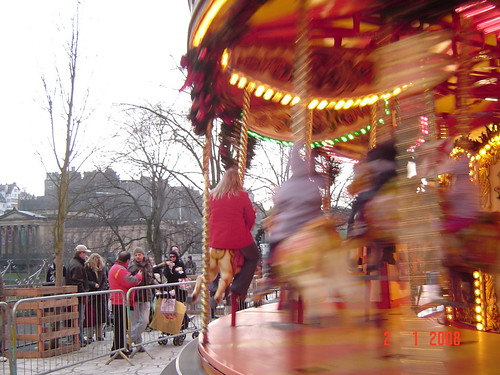 winter fair in Princes Street Gardens