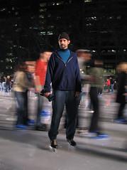 Dad Skating on Pond (SaikoSakura) Tags: nyc newyorkcity ny newyork ice pond dad iceskating skating 42ndst skaters sherbrooke skate timessquare rink skater iceskates bryantpark skates onblack hockeyskates iceskatingrink personalbest thepondatbryantpark oldskates sherbrookeiceskates sherbrookeskates sherbrookebauerprobilt vintagenhl