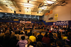 North Charleston High School Gym (Daniella Zalcman) Tags: southcarolina charleston obama election2008 barackobama barack northcharleston barackobamarally southcarolinaprimary northcharlestonhighschool