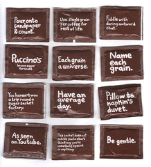 brown sugar (waldo pancake) Tags: brown art coffee shop illustration funny cartoon jim smith sugar designs pancake slogan copy waldo sachets puccinos waldopancake