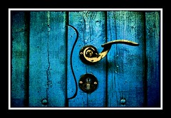 Underwater Gate (Jonny Jelinek) Tags: door blue photoshop gate doorknob blau tor tr tre trgriff trschnalle superbmasterpiece top25blue