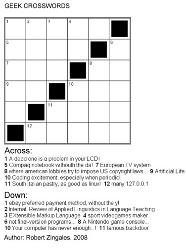 Computer Geeks Crosswords - by RoZ