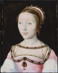 Francoise de Longwy - miniature by unknown (rosewithoutathorn84) Tags: portrait beauty fashion de tudor francoise 1500s longwy