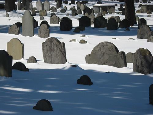 Snowy Harvard Graveyard