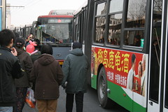Waiting for the Bus |  (chrissuderman) Tags: china people bus crowd beijing busstop   waitingforthebus crowds