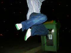 Hopper (-Passenger-) Tags: headless jump flash flight hop publicphone jumpingproject sincabeza