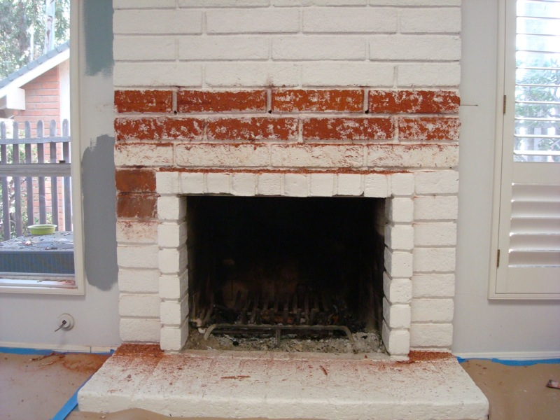 Project #1: Restoring the Brick Fireplace using Soygel |
