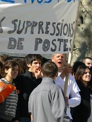 Manifestation lycée Paul Heroult 03 avril 2008