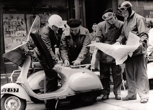 Ulster Vespa Club Rally preparations 1956