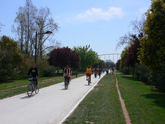 Cycling in the Turia Gardens