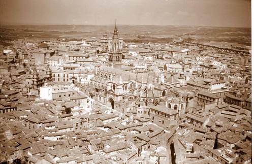 Catedral de Toledo, España, vista aerea