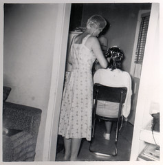 vintage: ladies with curlers in their hair (deflam) Tags: grandma arizona phoenix vintage hair hairdo 1950s curlers gilmer mayna