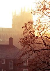 York Minster (davewebster14) Tags: york sunset film evening cathedral yorkminster minster northyorkshire om2n