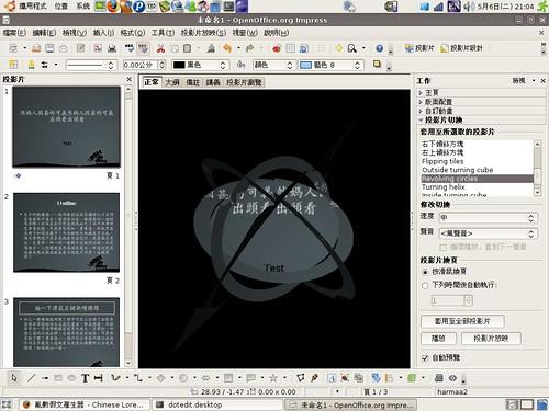 OpenOffice 超炫 3D 過場動畫