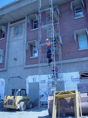 Dean Hall Construction - west side exterior stairwell
