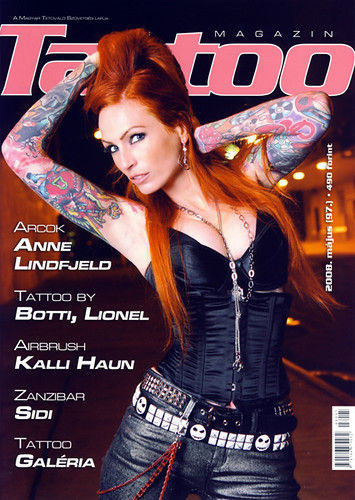 Anne in a hungarian tattoo magazine.