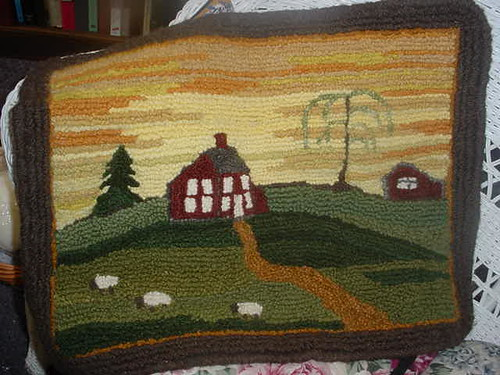 Sally's Farm - Hooked Rug