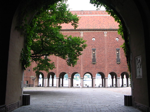 Stockholm City Hall entrance