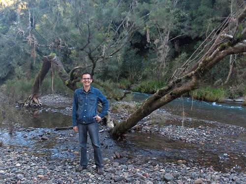 En el rio de la granja
