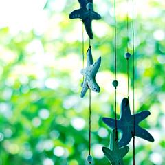 Star Wind Chime (Đạt Lê) Tags: green 50mm star nikon bokeh explore myhouse lovely f18 windchime explored d80 chuônggió đạtlê