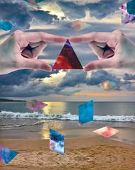 MSNTCE: Day 6 (Willbryantplz) Tags: sky cloud collage digital hands triangle geometry shapes shape stockphotography msce msntce