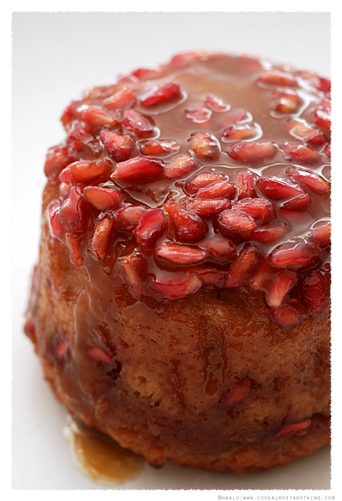 Caramelised Pomegranate Cakes