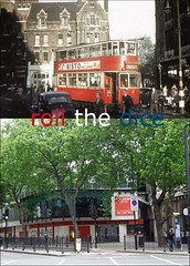Theobalds Road`1949-2011 (roll the dice) Tags: old uk travel trees london art history classic abandoned architecture advertising fire design war mess sad traffic theatre camden transport stmartins tram victoria aldwych holborn bloomsbury local streetfurniture e3 mad firestation plans eighties blitz demolished forties sixties 1949 kingsway firebrigade bisto oldandnew cochrane vanished wc1 pastandpresent londonist bygone joeorton hereandnow southamptonrow vernonplace grangehotel