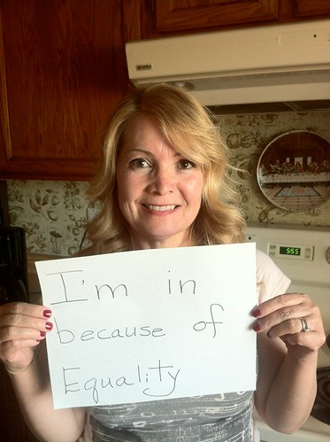 Eileen B. is in because of equality.
